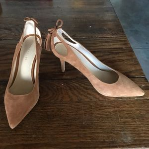 Marc Fisher Teagin Suede Pointed Toe Heels, 8.5